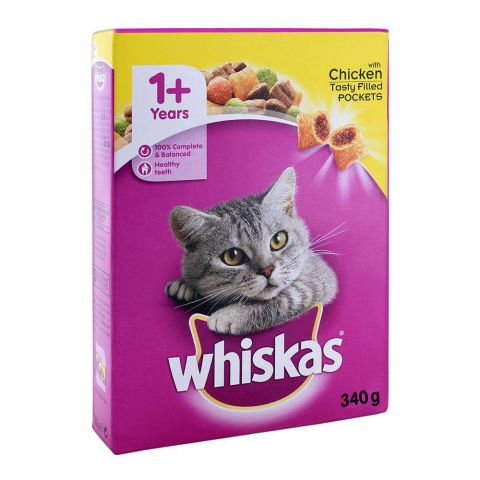 Whiskas 1+ Year Chicken Cat Food 340g