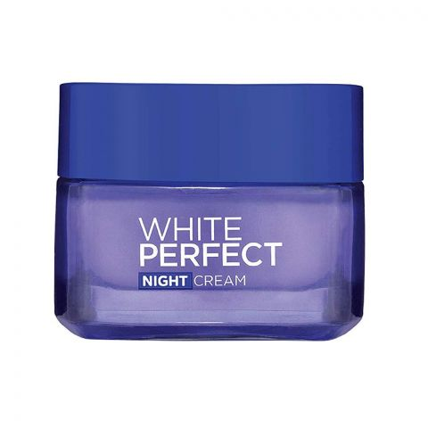 L'Oreal Paris White Perfect Night Cream, Whitening + Even Tone, 50ml