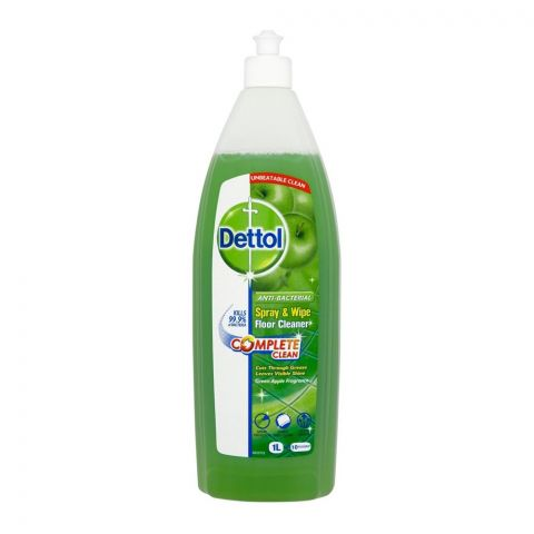 Dettol Spray & Wipe Floor Cleaner, Green Apple, 1 Liter
