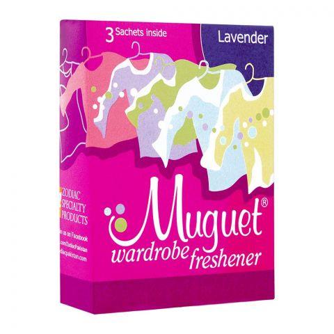 Muguet Wardrobe Freshener, Lavender, 3 Sachets