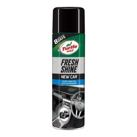 Turtle Wax Fresh Shine New Car, Cockpit Shine & Air Freshener, 500ml