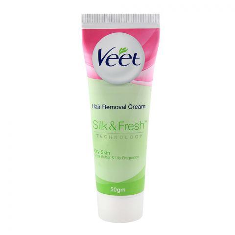 Veet Silk & Fresh Dry Skin Shea Butter & Lily Hair Removal Cream 50gm