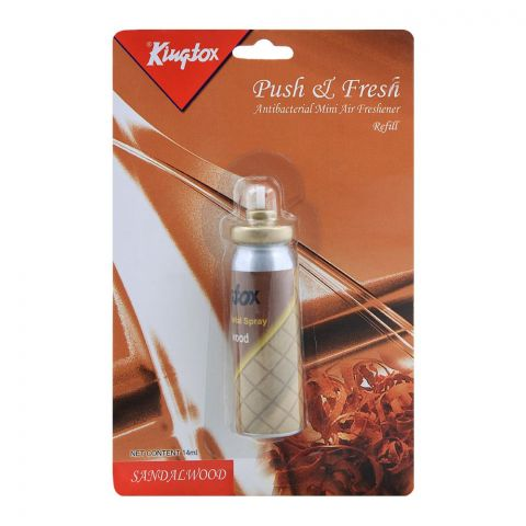 Kingtox Sandal Wood Push & Fresh Mini Air Freshener Refill