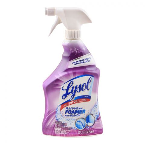Lysol Mold & Mildew Foamer With Bleach, Prevent Mold & Mildew, 946ml