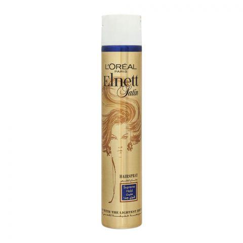 L'Oreal Paris Elnett Satin Hair Spray, Supreme Hold, 400ml