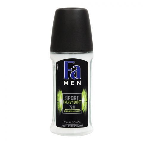 Fa Men 72H Energy Boost Energizing Scent Roll-On, Deodorant For Men, 50ml