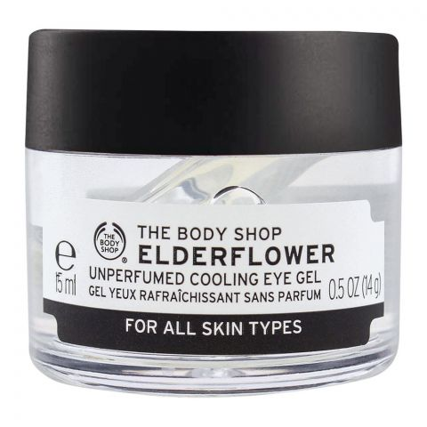 The Body Shop Elderflower Unperfumed Cooling Eye Gel, All Skin Types, 15ml