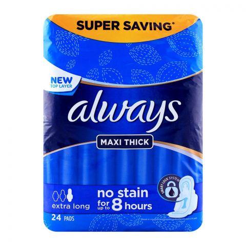 Always Maxi Thick Extra Long 24 Pads Super Saving