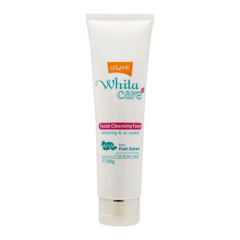 Lolane White Care Facial Cleansing Foam, All Skin Types, 120g