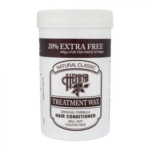 Natural Classic Henna Treatment Wax Hair Conditioner, 480g