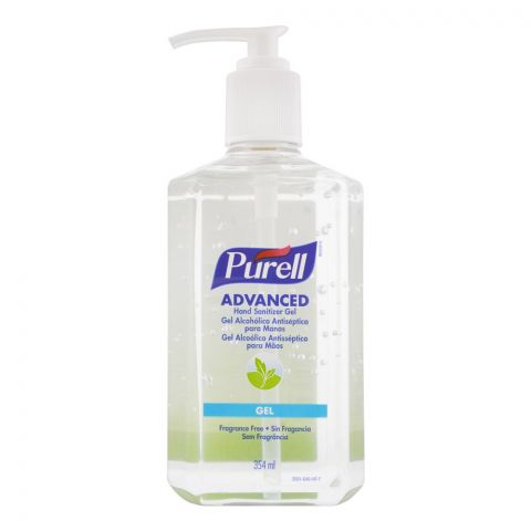 Purell Advanced Hand Sanitizer Gel, Fragrance Free, 354ml