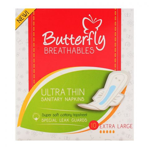 Butterfly Breathables Ultra Thin Extra Large 10-Pack