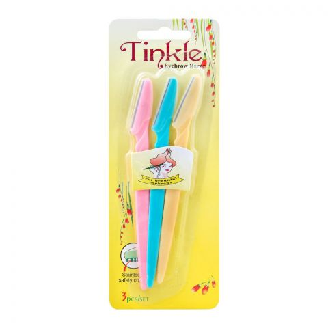 Tinkle Women Eyebrow Razor, 3 Pieces