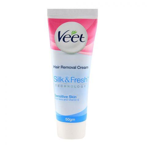 Veet Silk & Fresh Sensitive Skin Aloe Vera And Vitamin E Hair Removal Cream 50gm