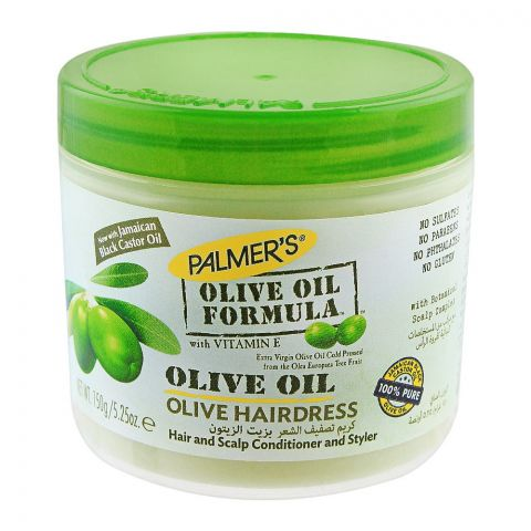 Palmer's Olive Oil Formula Olive Oil Hair Dress, With Vitamin E, Jar, 150g