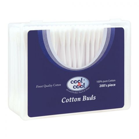 Cool & Cool Cotton Buds, 200-Pack