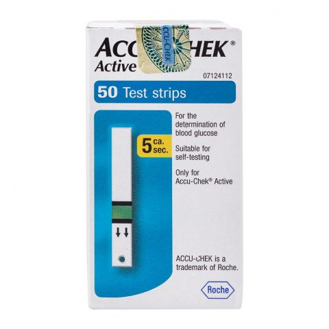 Accu-Chek Active Blood Glucose Strips, 50 Count