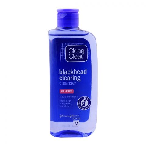 Clean & Clear Blackhead Clearing Cleanser, Oil Free, 200ml
