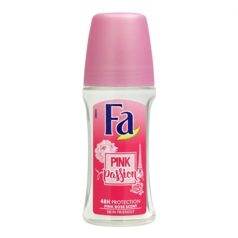 Fa 48H Protection Pink Passion Pink Rose Scent Roll-On Deodorant, For Women, 50ml
