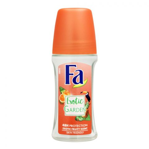 Fa 48H Protection Exotic Garden Exotic Fruity Scent Roll-On Deodorant, For Women, 50ml