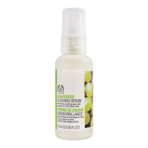 The Body Shop Grapeseed Glossing Serum, For Dull/Frizzy Hair, 75ml