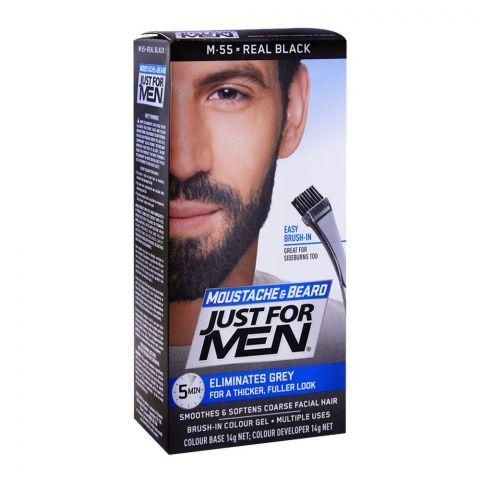 Just For Men Moustache & Beard Colour, M-55 Real Black
