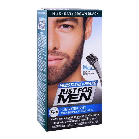 Just For Men Moustache & Beard Colour, M-45 Dark Brown Black