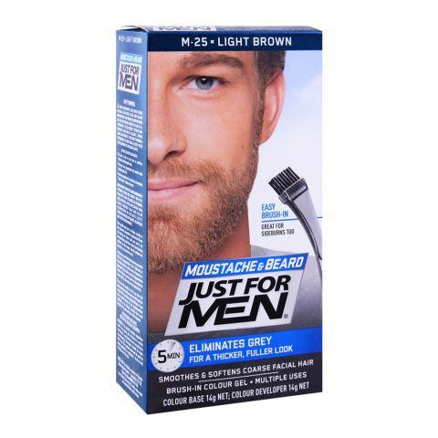 Just For Men Moustache & Beard Colour, M-25 Light Brown