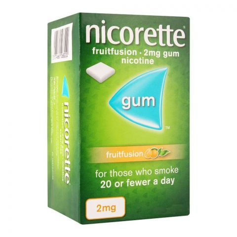 Nicorette Fruit Fusion Gum, 2g, 1 Strip (15 Tablets)