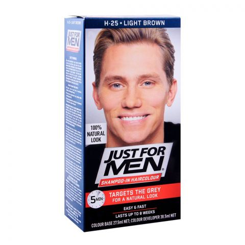 Just For Men Shampoo-In Hair Colour, H-25 Light Brown