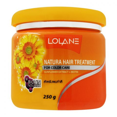 Lolane Natura Hair Treatment, Sunflower Extract + Biotin, For Color Care, 250g