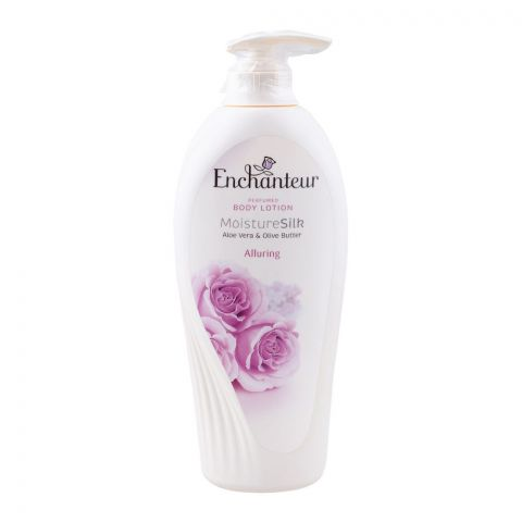 Enchanteur Alluring Moisture Silk Perfumed Body Lotion, Aloe Vera & Olive Butter, 500ml