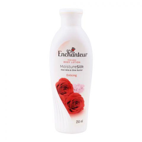 Enchanteur Enticing Moisture Silk Perfumed Body Lotion, Aloe Vera & Olive Butter, 250ml