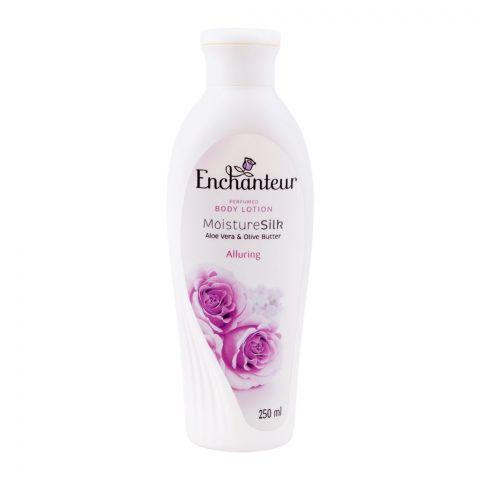 Enchanteur Alluring Moisture Silk Perfumed Body Lotion, Aloe Vera & Olive Butter, 250ml