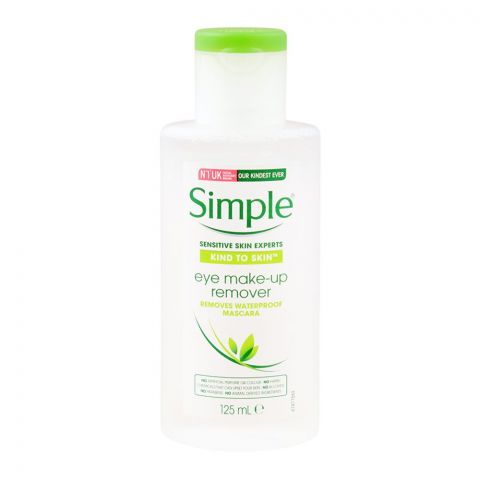 Simple Kind To Skin Eye Makeup Remover, Alcohol + Paraben Free, 125ml