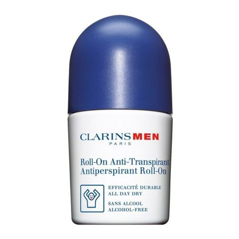 Clarins Paris Men Antiperspirant Roll-On Deodorant, Alcohol Free, 50ml