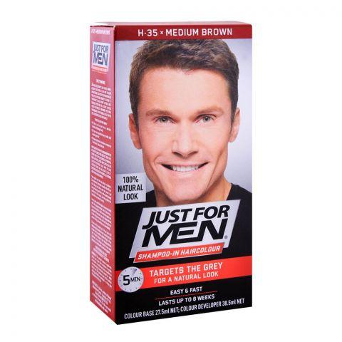 Just For Men Shampoo-In Hair Colour, H-35 Medium Brown