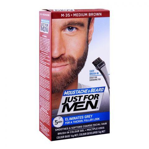 Just For Men Moustache & Beard Colour, M-35 Medium Brown