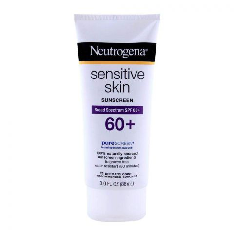 Neutrogena Sensitive Skin Sunscreen, SPF 60+, 88ml