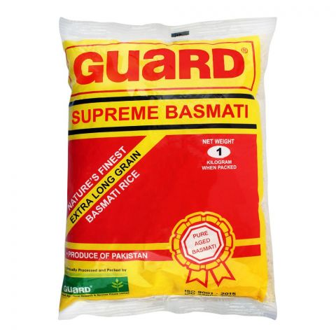 Guard Supreme Basmati Rice, Extra Long Grain, 1 KG