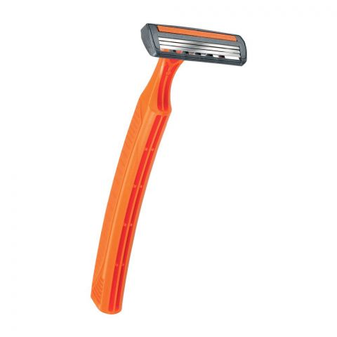 BIC Triple Blade Disposable Razor, Orange, 1 Count