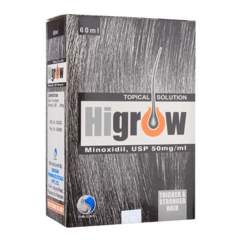 Higrow Minoxidil Topical Solution, 60ml