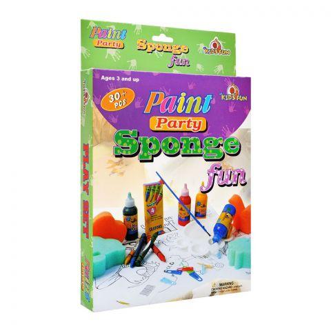 Kids Fun Paint Party Sponge Fun Set, 30+ Pieces