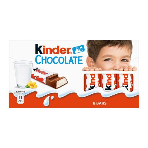Kinder Chocolate, 8 Bars, 100g