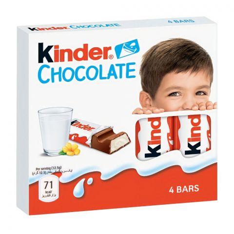 Kinder Chocolate, 4 Bars, 50g