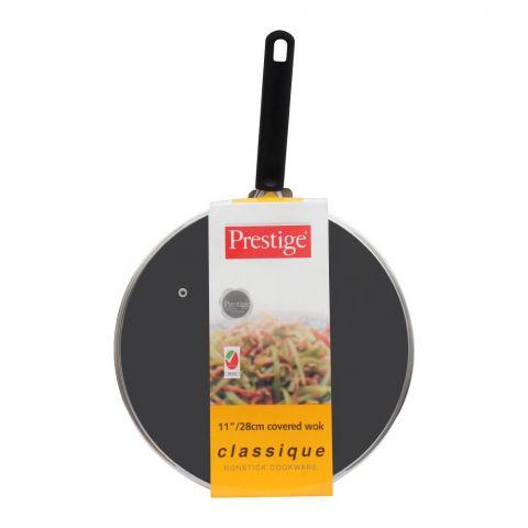 Prestige Classique Covered Wok Pan, 11 Inches, 28cm, 20979