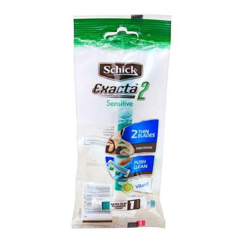 Schick Exacta 2 Sensitive Vitamin E Disposable Razor, 1 Count