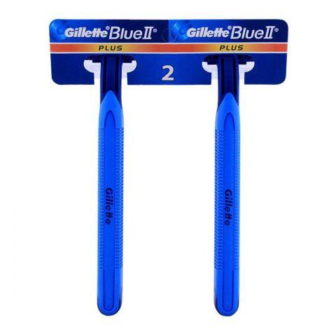 Gillette Blue II Plus Disposable Razors, 2-Pack