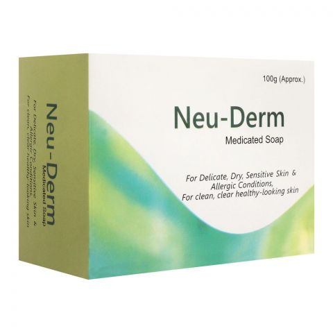 Neu-Derm Medicated Soap, For Delicate, Dry, Sensitive Skin & Allergic Conditions, 100g