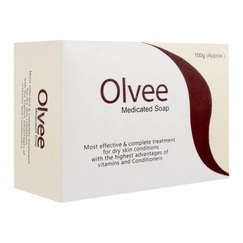Olvee Medicated Soap, For Dry Skin Conditions, 100g